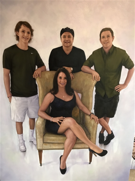 Family Portrait By World  Renowned Artist Doo S. Oh