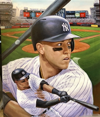 ROOKIE OF THE YEAR AARON JUDGE. ORIGINAL PAINTING BY ARTIST DOO S. OH