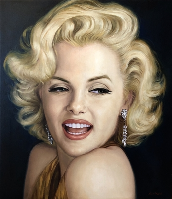 MARILYN MONROE ORIGINAL PAINTING ON CANVAS SIGNED BY ARTIST DOO S. OH