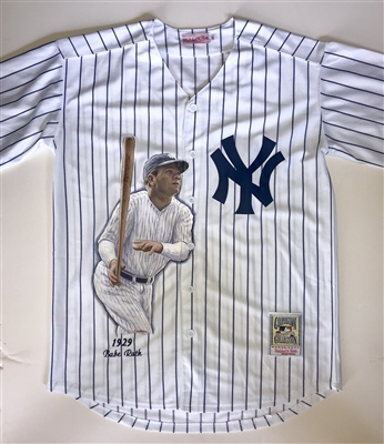 NY Yankees Babe Ruth Hand Painted Jersey by Artist Doo S. Oh