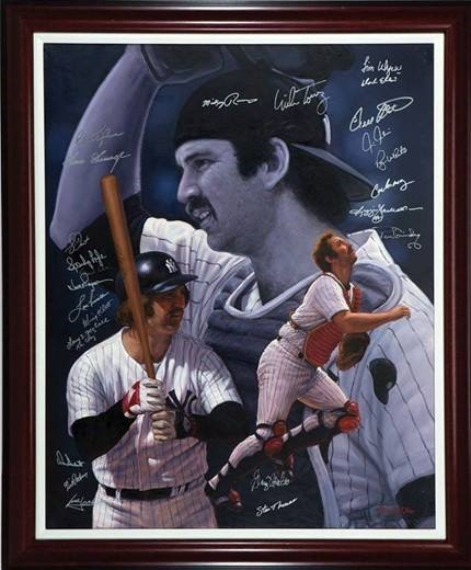 Thurman Munson ORIGINAL ART ON CANVAS BY RENOWNED ARTIST DOO S. OH,
