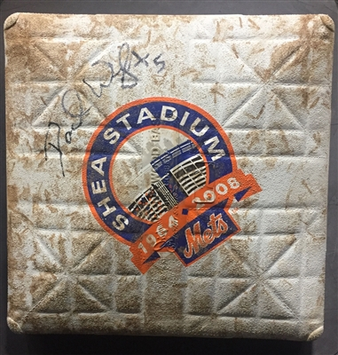 David Wright NY METS Signed Game Used Shea Stadium Final Season Base MLB Holo.