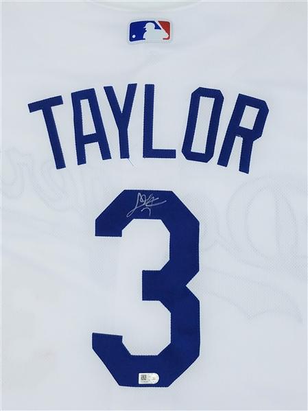 low priced 87907 96cfa Lot Detail - LA Dodgers Chris Taylor Autographed AUTHENTIC ...