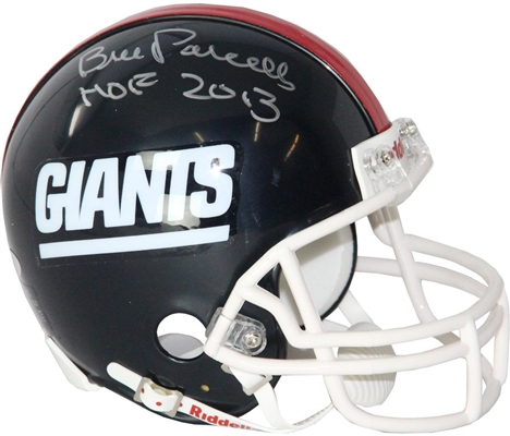 Bill Parcells Signed Giants Mini Helmet w/ HOF Insc