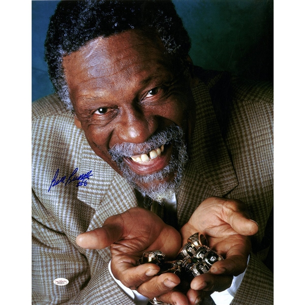Bill Russell Signed 'Rings' 16x20 Photo (JSA)