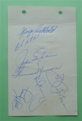 Thurman Munson Pre-Rookie 1969 NY Yankees Signed Auto Album Page RARE EARLY SIGNATURE! JSA No Reserve