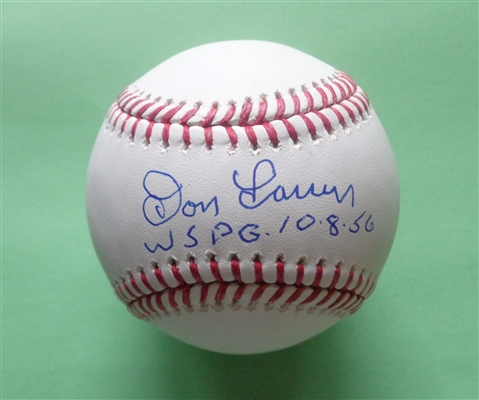 Don Larsen Yankees Signed Official Major League Baseball with Inscription WSPG 10 8 56 PIFA COA No Reserve