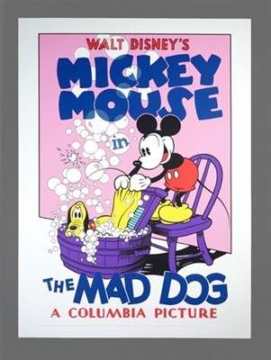 "Mickey Mouse Vintage Fine Art Eight Color Serigraph  ""The Mad Dog"" by Walt Disney No Reserve"