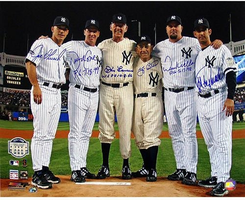 Yankees Final Game at Yankee Stadium Perfect Game Battery Mates Signed w/PG Inscriptions 16x20 Photo
