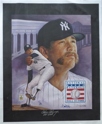 GOOSE GOSSAGE SIGNED HOF Tribute FINE ART GICLEE on CANVAS by DOO S. OH LE 9/26 PIFA Certified Autograph
