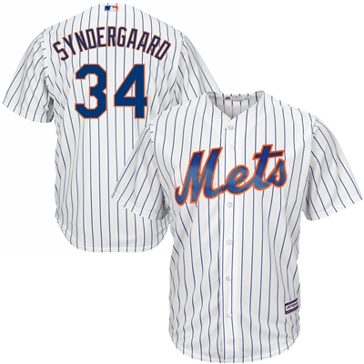 Noah Syndergaard Mets Mens White Home Cool Base Player Size L Jersey NO RESERVE