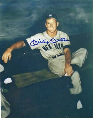 Mickey Mantle Signed 8x10 Mixed Media Image JSA Lot LOA MICKEYS FAVORITE IMAGE! No Reserve