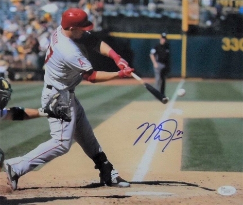 MIKE TROUT ANGELS SUPERSTAR SIGNED 11X14 PHOTO JSA FULL LOA No Reserve!