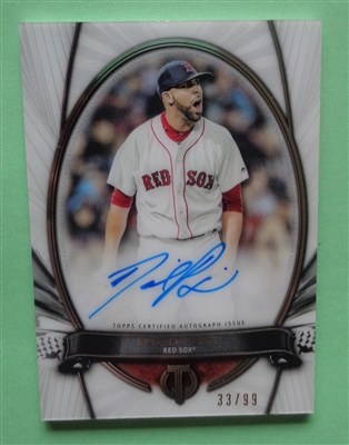 David Price Red Sox 2017 Topps Tribute Immortal Moments Auto on Card /99 No Reserve