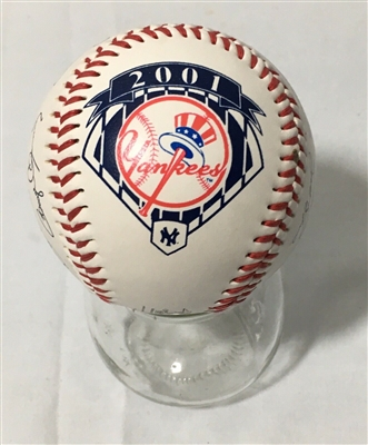 2001 NEW YORK YANKEES FACSIMILE SIGNED BASEBALL INCLUDES JETER Brand New with No Reserve