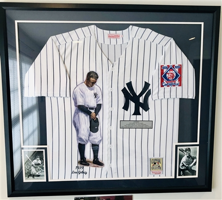 NY Yankees Lou Gehrig Hand Painted Jersey, Artist Doo S. Oh