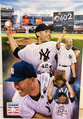 """UNANIMOUS"" HOFer Mariano Rivera original by artist Doo S. Oh."