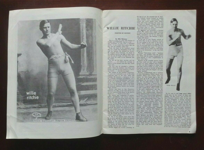 Willie Ritchie Fighter of Destiny Tribute Publication Signed by Billy Mahoney NO RESERVE