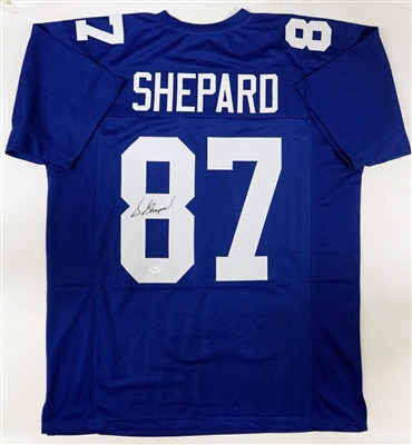 Sterling Shepard Giants Hand Signed Jersey (Letters and #s are Sewn On) JSA COA No Reserve
