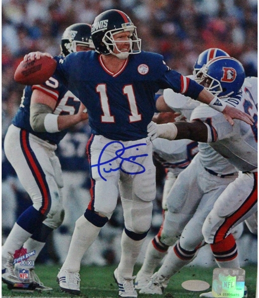 Phil Simms Signed 8x10 Photo vs Denver Broncos