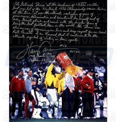 Harry Carson Gatorade Signed 16x20 Story Photo