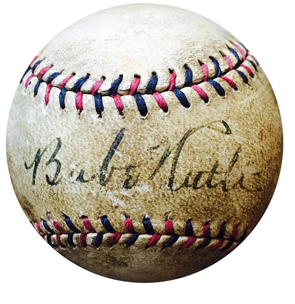 Babe Ruth Single signed official NL baseball 1929 Yankees BOLD autograph JSA COA
