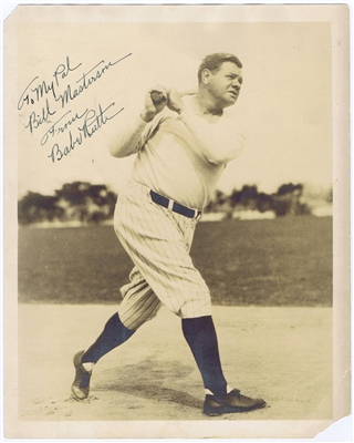Babe Ruth Signed Vintage Yankees 8x10 Photo BOLD MINT 9 Autograph JSA Letter coa