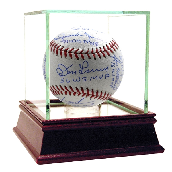 Yankees World Series MVP Multi-Signed (11 incl Jeter) & Inscribed MLB Baseball Steiner Auth.
