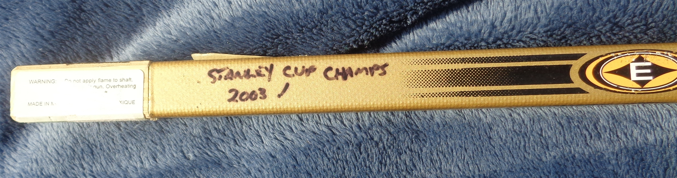 2003 Stanley Cup Champions NJ Devils Team Signed Official Easton Hockey Stick