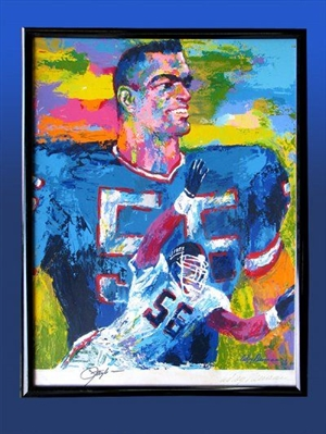 """Lawrence Taylor"" Fine Art Framed Serigraph Signed by Taylor and LeRoy Neiman Limited Edition of 608 NO RESERVE!"