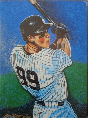Aaron Judge Giclee on canvas by Sports Artist Bill Lopa LE/200 Signed by Lopa NO RESERVE