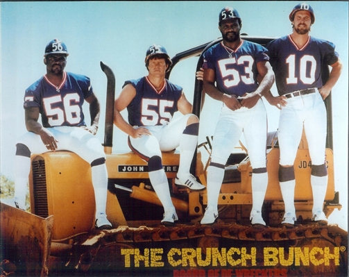 "NY Giants HUGE 20x24"" Crunch Bunch Photo of Lawrence Taylor Brad Van Pelt Harry Carson & Brian Kelly NO RESERVE"