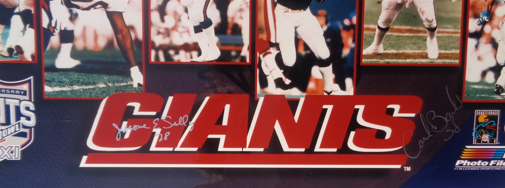 NY Giants 1986 Super Bowl Champions 16x20 Collage Photo Signed by Sally & Banks NFL Licensed NO RESERVE
