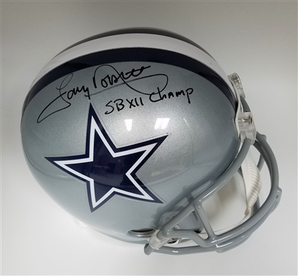 Tony Dorsett Signed Autographed Full Size Cowboys Helmet with SB VII Inscription MLB Certified
