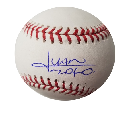Braves Young Superstar Juan Soto Autographed OML Baseball MLB Authenticated
