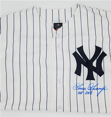 "Goose Gossage ""HOF 2008"" Autographed Yankees Majestic Replica XL Jersey MLB Certified"