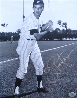 Joe Pepitone NY Yankees Signed 8x10 Batting Stance Photo WYWHP Certified No Reserve