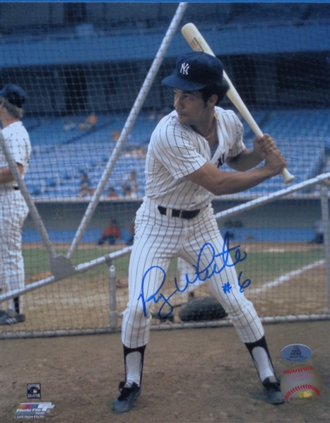 Roy White NY Yankees Signed 8x10 Batting Photo WYWHP Certified No Reserve