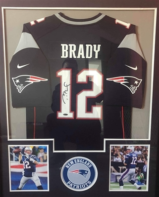 Tom Brady Signed Patriots Jersey Comes Matted w/pics shown Ready to Frame Tri-Star Certified