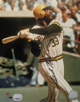 Dave Parker Pirates Reds As Signed 8x10 Batting Photo Mounted Memories Certified NO RESERVE