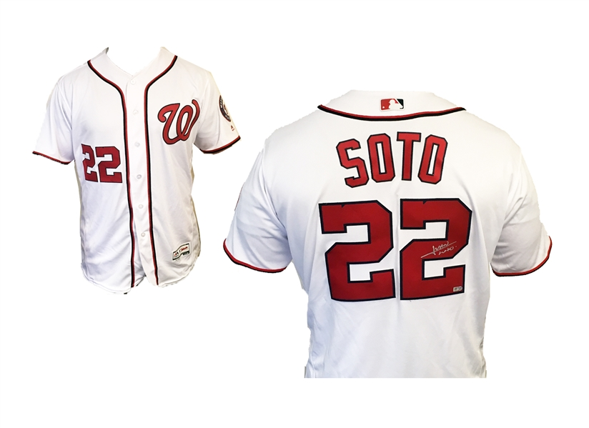 HOT! Nationals Young (20!) Superstar Juan Soto Autographed Majestic XL Jersey MLB Authenticated