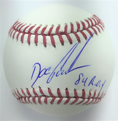 "Dwight ""Doc"" Gooden Yankees Mets Signed OML Baseball w/ 84 ROY Inscription MLB Certified"