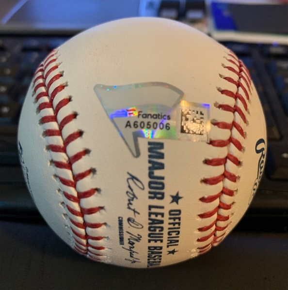 Pete Alonso (ROY?) Signed OML Baseball NY Mets 2018 Futures Game Fanatics RESERVE MET!