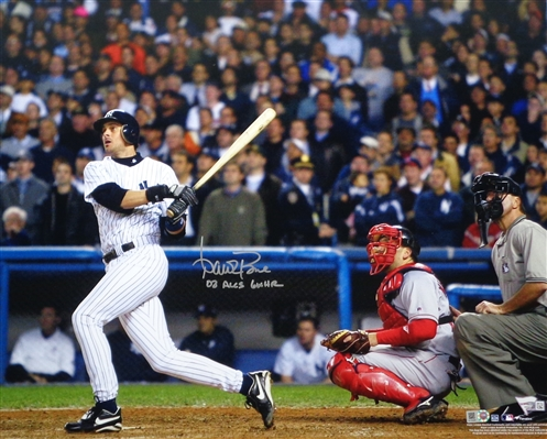 Yankees Mgr Aaron Boone Signed 16x20 (Famous 2003 HR) Photo w/inscrip MLB & Fanatics NO RESERVE