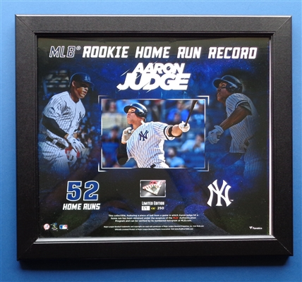 "Aaron Judge Beautiful 15x17"" Framed Rookie Record 52 HRs Collage by Fanatics LE/250 NO RESERVE"