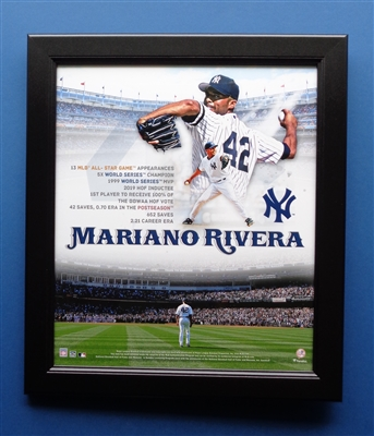 "Mariano Rivera Beautiful 15x17"" Framed Career Stats Collage by Fanatics NO RESERVE"