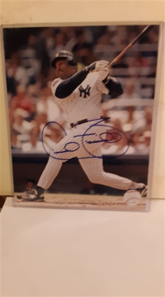 New York Yankees Cecil Fielder Signed 8x10 Photo