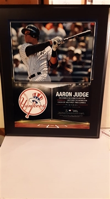 New York Yankees Unsigned Aaron Judge Plaqued Collage