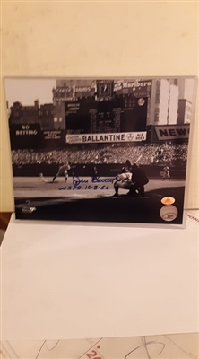 New York Yankees Don Larsen Signed 8x10 Photo with inscription WS PG 10-8-56