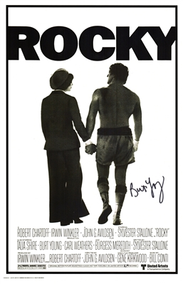 Burt Young Signed Rocky 11x17 Movie Poster